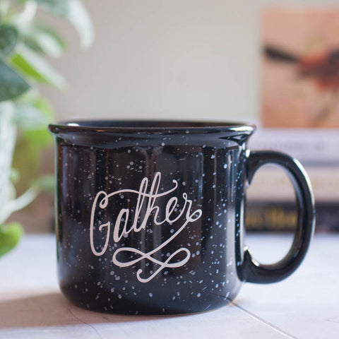 "Ceramic Camp Style ""Gather"" Mug - Gather Goods Co - Raleigh, NC"