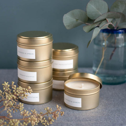 Golden Tin Travel Candle - Gather Goods Co - Raleigh, NC