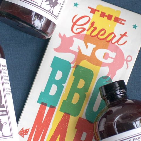 The Great NC BBQ Map - Gather Goods Co - Raleigh, NC