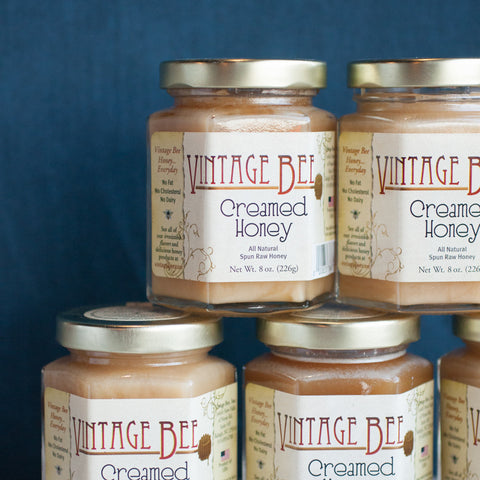 Vintage Bee Creamed Honey - Gather Goods Co - Raleigh, NC