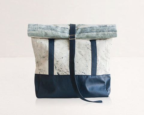Rolltop Backpack / Tote Bag / Indigo - Gather Goods Co - Raleigh, NC