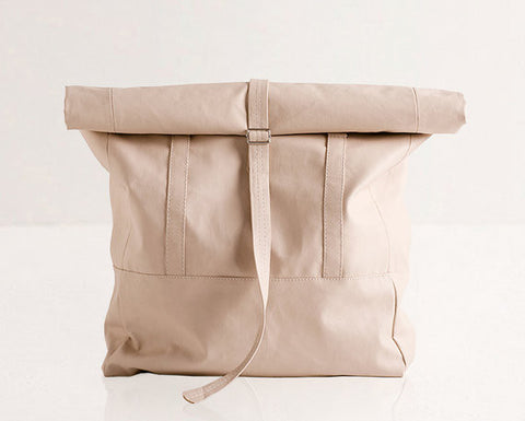 Rolltop Backpack / Tote Bag / Pale Pink - Gather Goods Co - Raleigh, NC