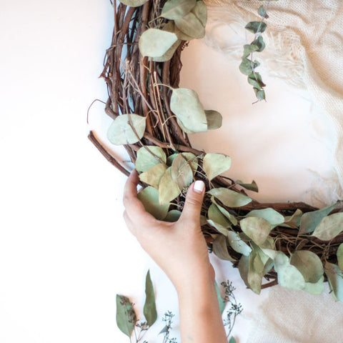 Private Seasonal Wreath Workshop<br>Friday, November 18th<br>6:30 - 8:30pm - Gather Goods Co - Raleigh, NC
