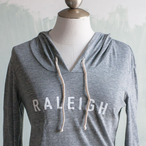 Raleigh Hooded Pullover, Lightweight - Gather Goods Co - Raleigh, NC