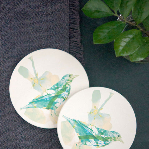 Ceramic Coasters, Bird - Gather Goods Co - Raleigh, NC