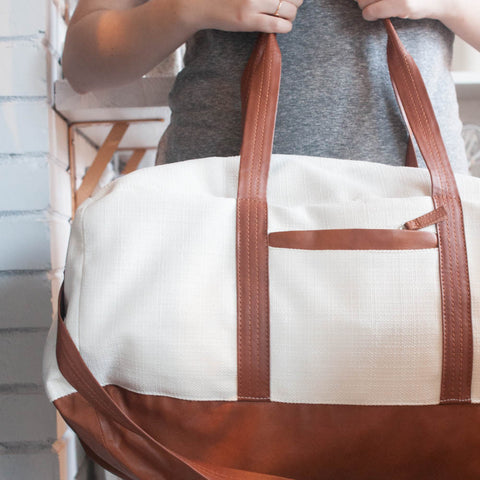Travel Duffel Bag / Vegan Leather - Gather Goods Co - Raleigh, NC