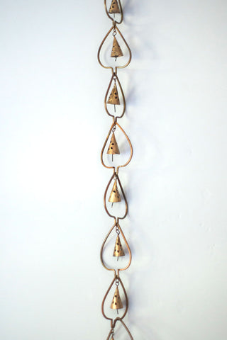 Copper Hanging Bell Chain