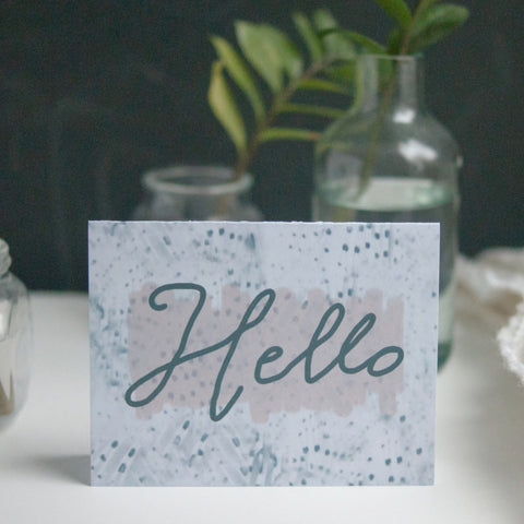 Hello, Greeting Card - Gather Goods Co - Raleigh, NC