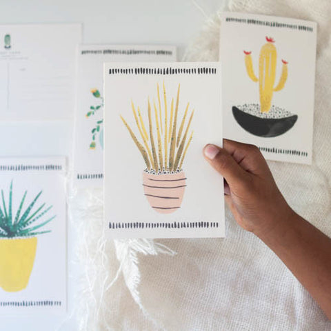 Cactus Postcard Set - Gather Goods Co - Raleigh, NC