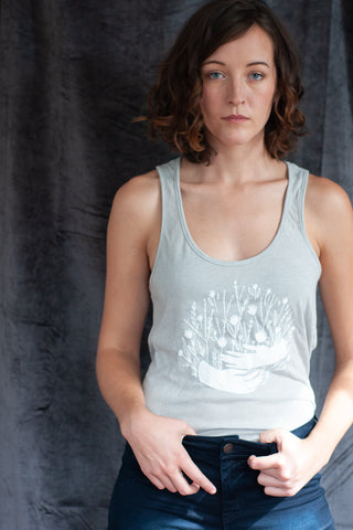 Gather Flowers and Hands Tank - Gather Goods Co - Raleigh, NC