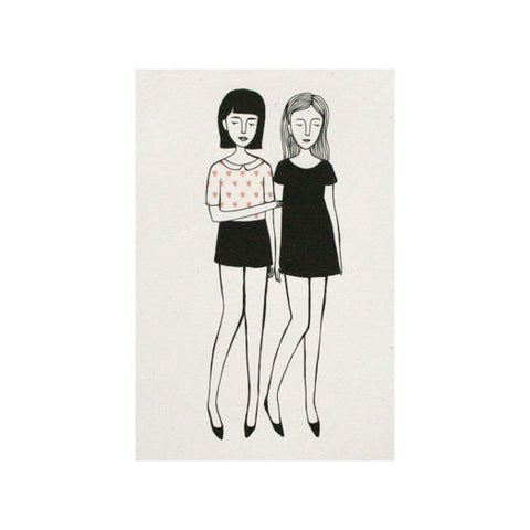 Two Girls, 4x6 Print - Jordan Grace Owens - Gather Goods Co - Raleigh, NC