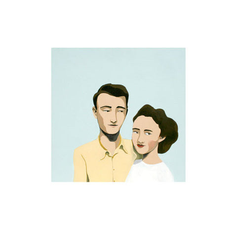 "Retro Couple Print 5x5"" - Jordan Grace Owens - Gather Goods Co - Raleigh, NC"