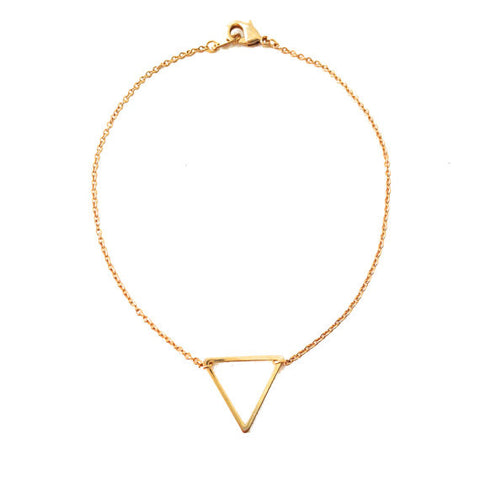 Geometric Gold Triangle Bracelet - Gather Goods Co - Raleigh, NC