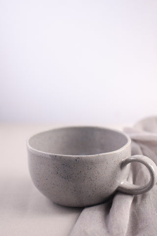 Cool Gray Latte Mug, Ceramic - Gather Goods Co - Raleigh, NC