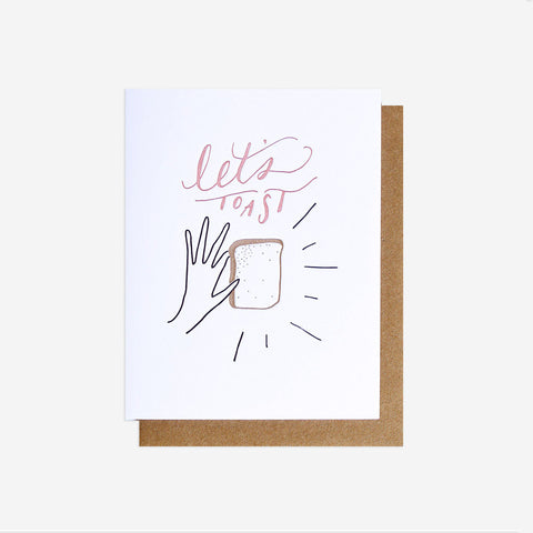 Let's Toast Greeting Card, Letterpress