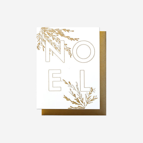 Noel Holiday Card, Letterpress