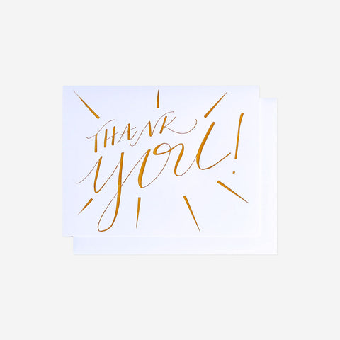 Thank You Greeting Card, Letterpress - Gather Goods Co - Raleigh, NC