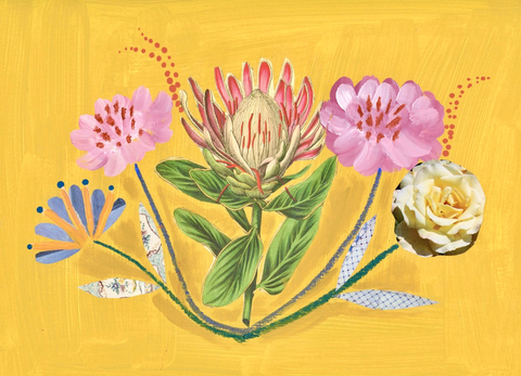 Mixed Media Blooms, Protea & Friends