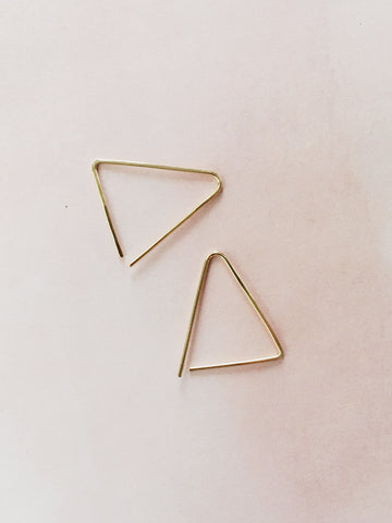 Triangle Earrings - Gather Goods Co - Raleigh, NC