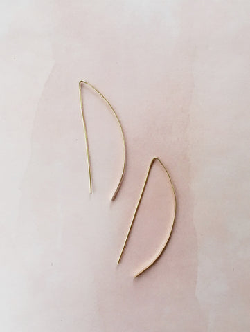 Half Moon Earrings - Gather Goods Co - Raleigh, NC