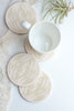 Ceramic Coasters, Pale Sage Feathers - Gather Goods Co - Raleigh, NC