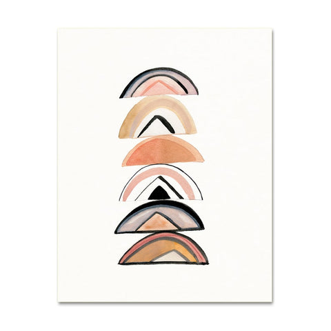 Minimalist Rainbows Abstract Art Print - Gather Goods Co - Raleigh, NC
