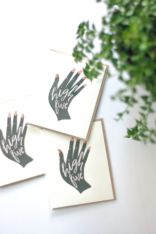 High Five Hand Note Card - Gather Goods Co - Raleigh, NC