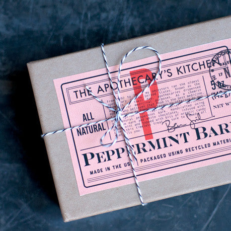 Peppermint Bark, Premium White & Dark Chocolates, 5oz Box - Gather Goods Co - Raleigh, NC