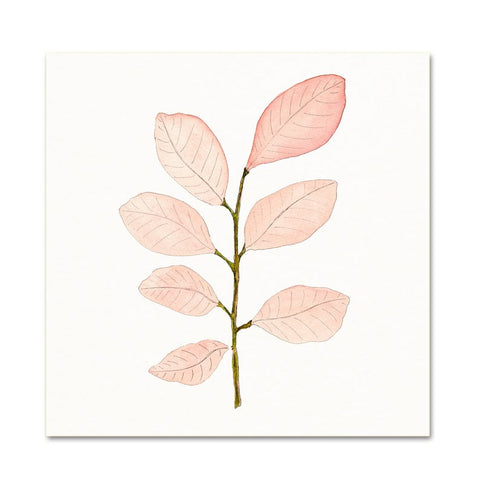 Pink Botanical Leaf Art Print - Gather Goods Co - Raleigh, NC