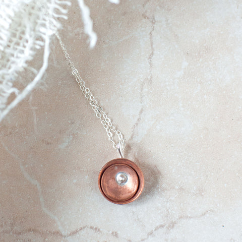 Copper Poppy Necklace - Gather Goods Co - Raleigh, NC