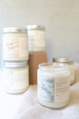Soy Wax Candles, Scented, 8oz, 40 Hour Burn Time - Gather Goods Co - Raleigh, NC