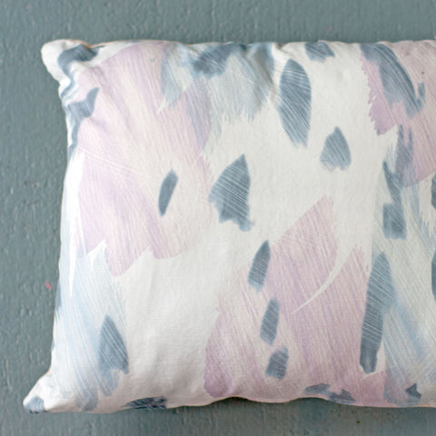 "Faded Gray Blue Throw Pillow, 13 x 17"" - Gather Goods Co - Raleigh, NC"