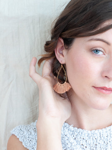 Terra Cotta Tassel Earrings