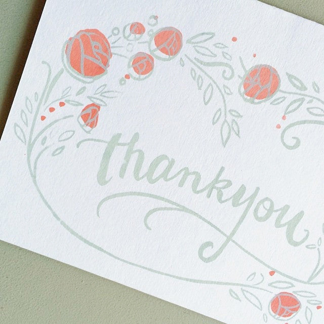 Thank You Screen Print Card Gather Goods Co