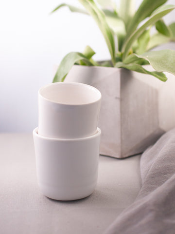 White Ceramic Tumbler - Gather Goods Co - Raleigh, NC