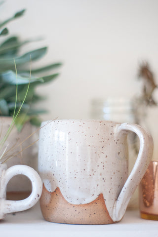 White Speckled Ceramic Clouds Mug