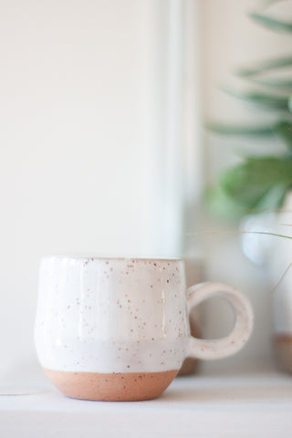White Speckled Espresso Mug - Gather Goods Co - Raleigh, NC