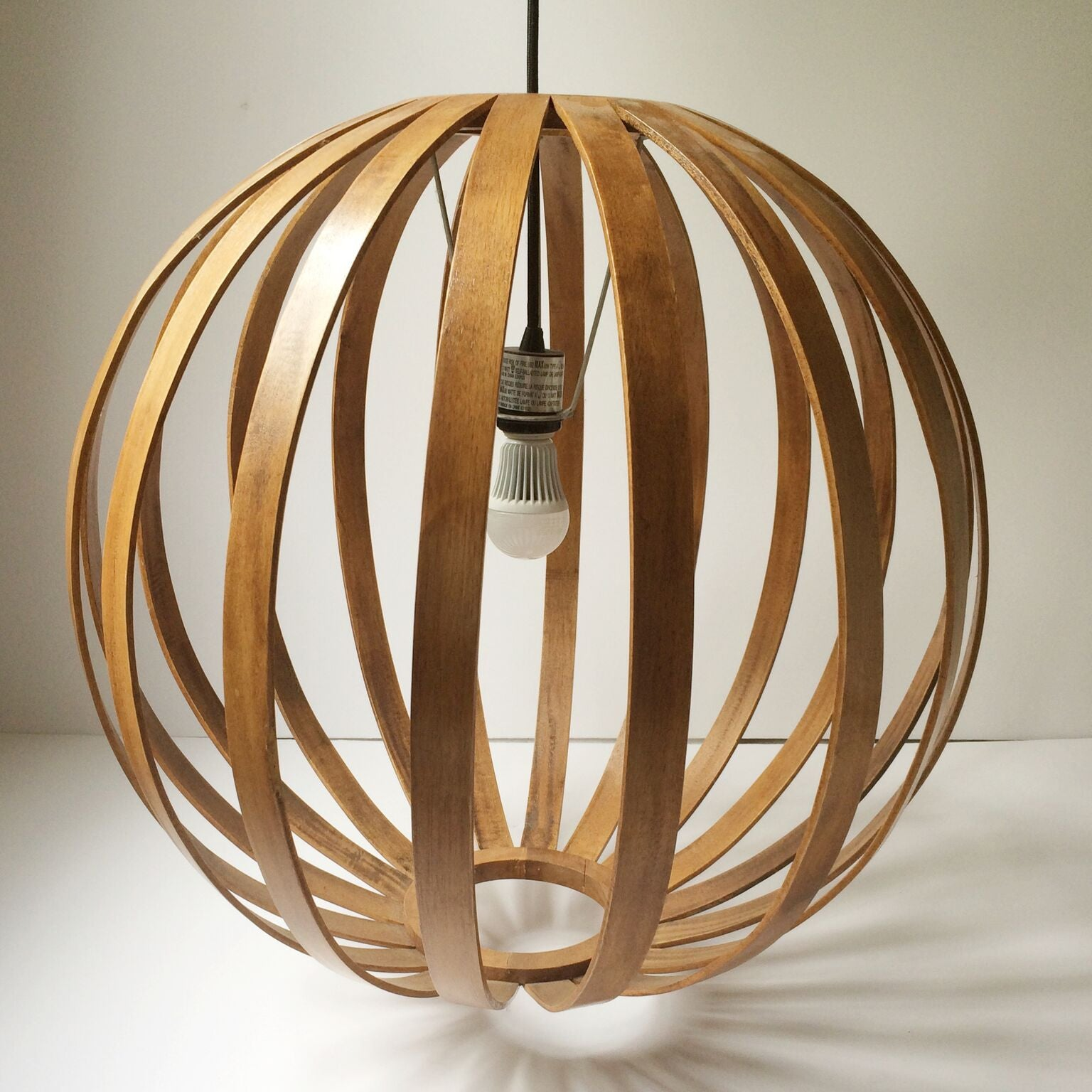 West Elm Bentwood Pendant Lamp, Round – Gather Goods Co.