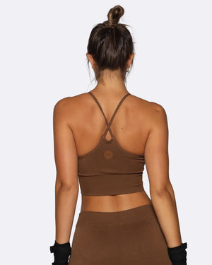 Seamless Sports Bra - Brown