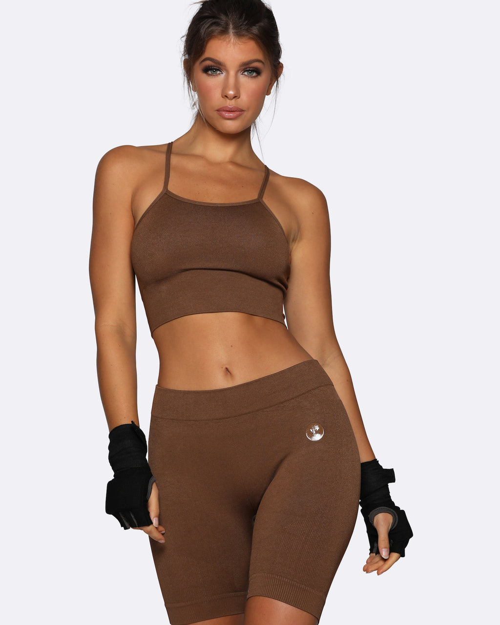 Seamless Bike Shorts - Brown