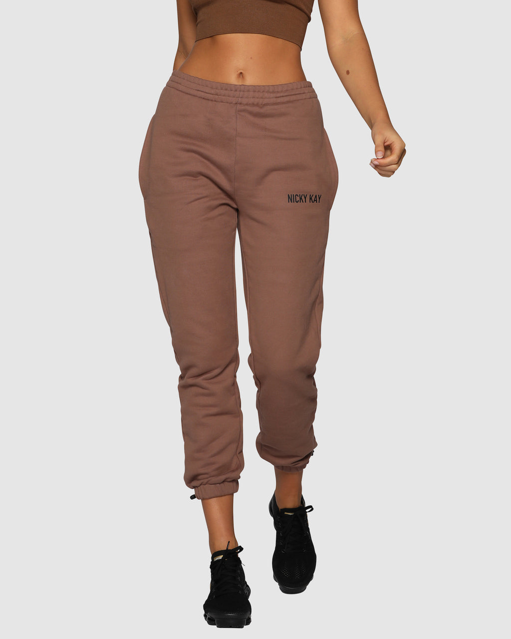 High Rise Pants - Brown