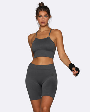 Seamless Bike Shorts - Charcoal