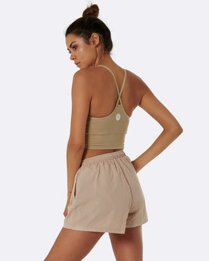 Cream High Waist Shorts