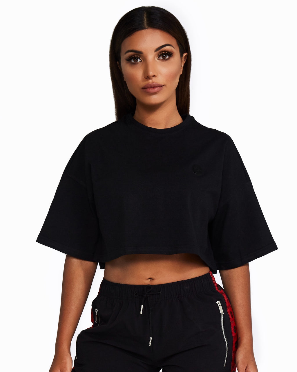 Nicky Kay Cropped Tee - Black
