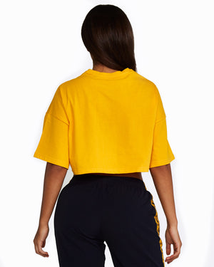 Yellow Cropped Tee