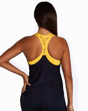 Mesh Tank: Navy with Yellow