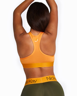 ORANGE RACERBACK CROP TOP