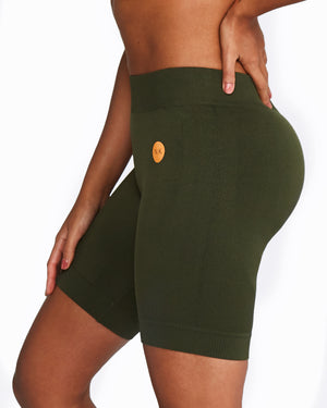 Nicky Kay Seamless Bike Shorts - Khaki