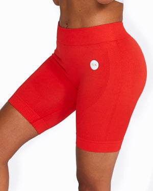 RED BIKE SHORTS SEAMLESS