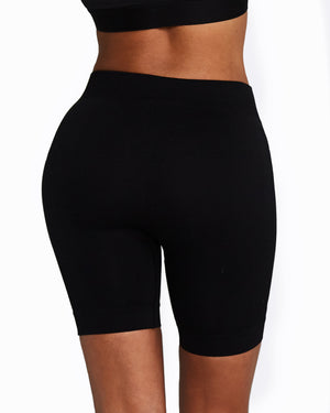 Seamless Bike Shorts - Black